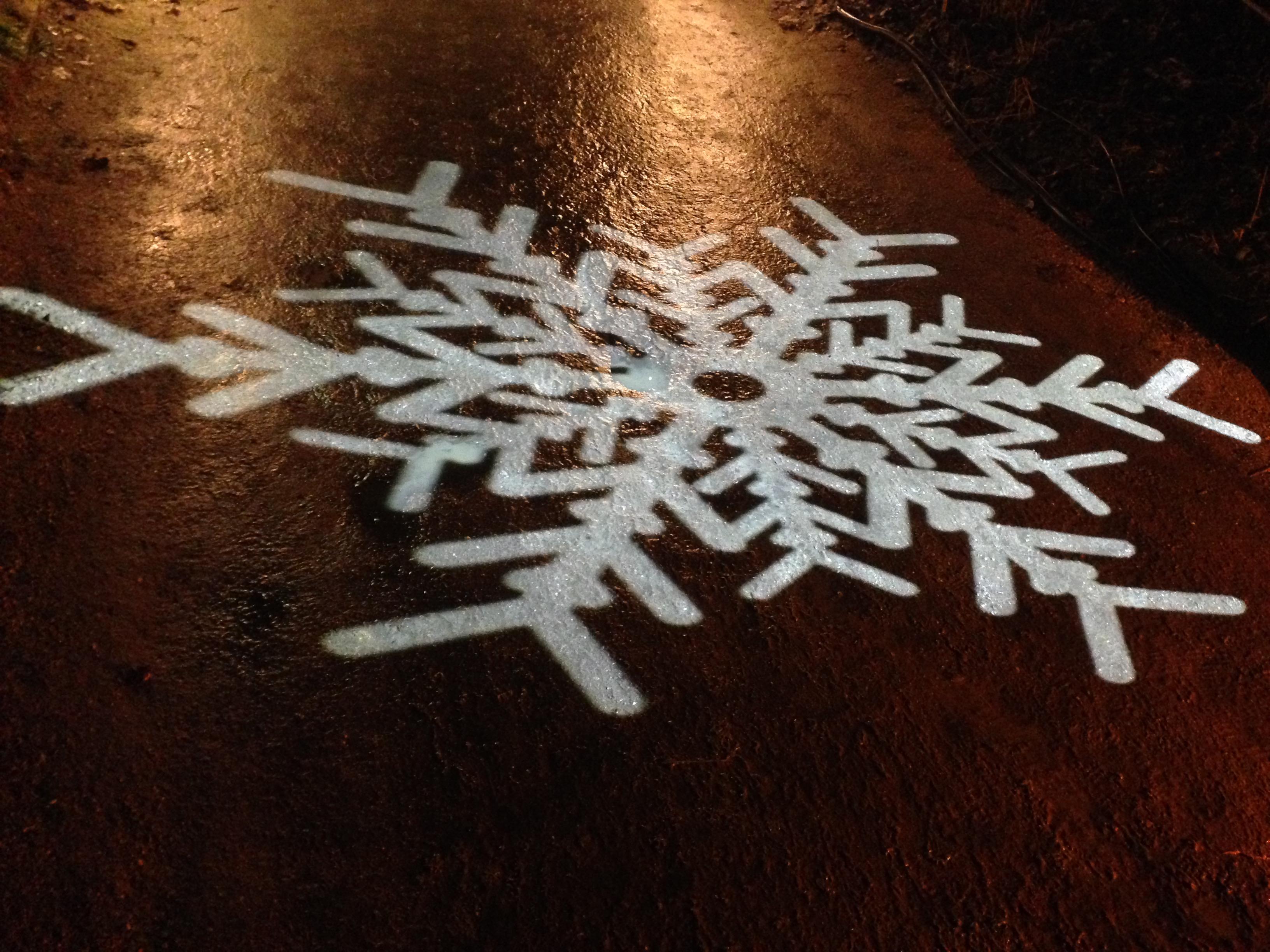 Schneeflocken aus Licht beim Christmas Garden Berlin