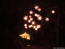 Auf dem Weg zum Sternenpavillon im Christmas Garden