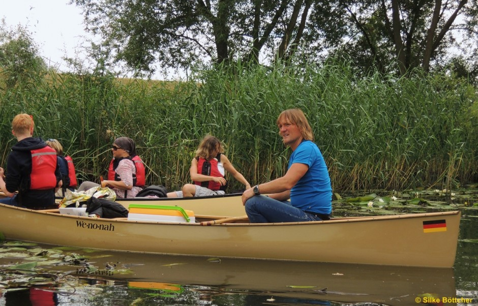 Andreas Kieling auf dem Kanu Foto: Silke Böttcher
